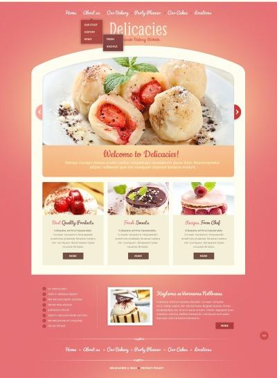 Modèle Web  pour une boulangerie