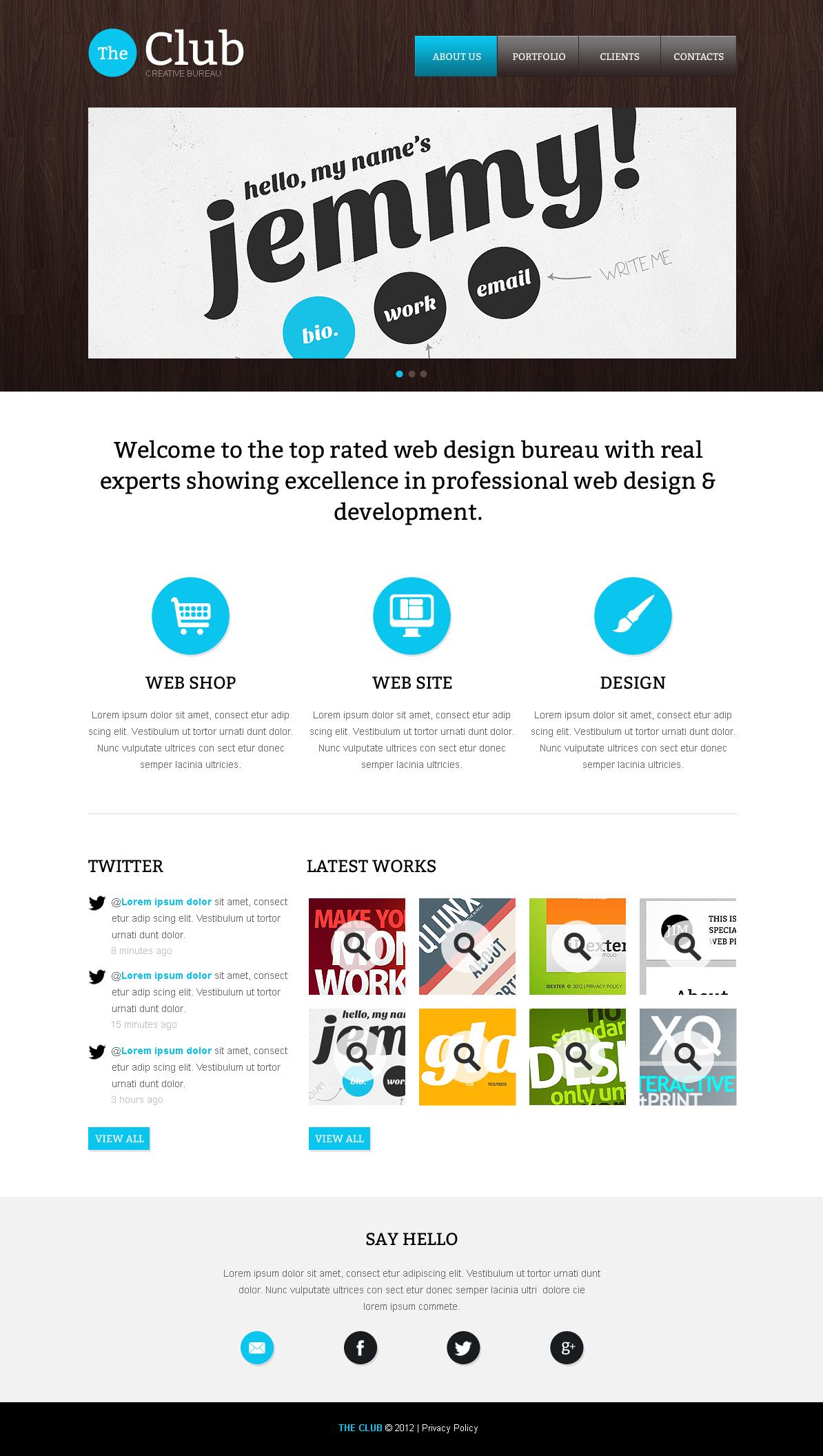Moto CMS HTML Vorlage für Web Design #41083