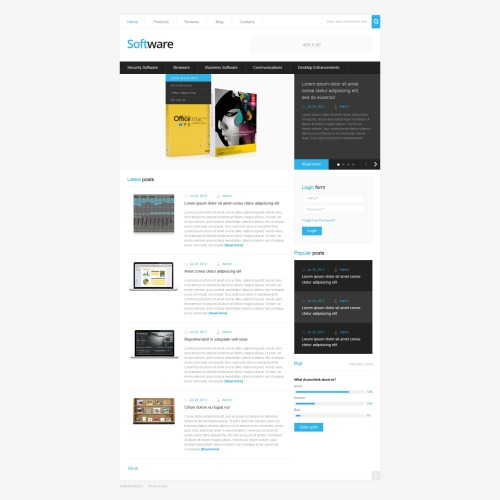 Software Company - Drupal Template