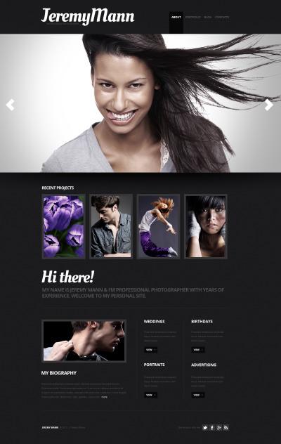 Szablon Moto CMS HTML #41012 na temat: portfolio fotograficzne