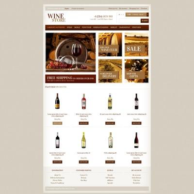 Wine Shop OpenCart Template 45066 – Free Wine List Template