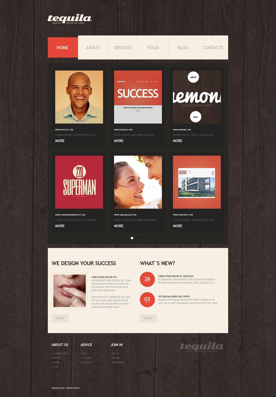 WordPress шаблон №41038 на тему дизайн студия - скриншот