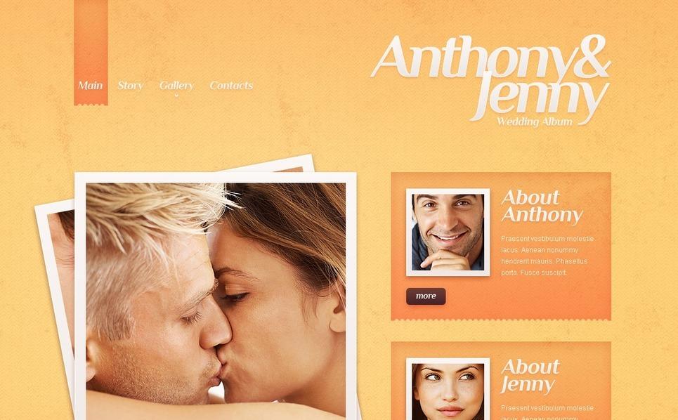 Website Vorlage für Hochzeitsalbum  New Screenshots BIG