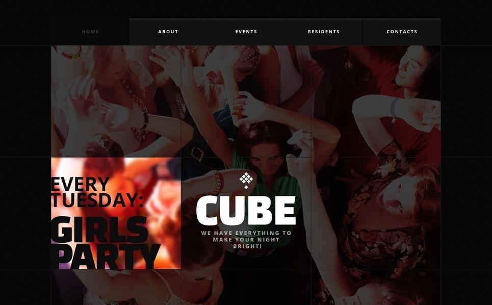 Modèle Web  pour site de boîte de nuit New Screenshots BIG
