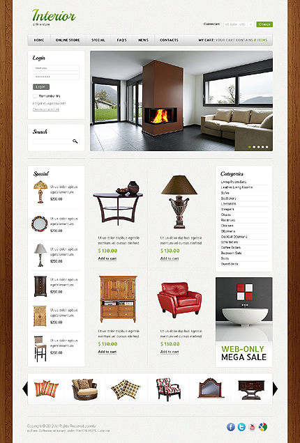 ADOBE Photoshop Template 41125 Home Page Screenshot