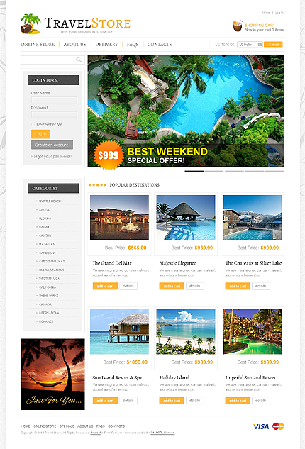 ADOBE Photoshop Template 41126 Home Page Screenshot