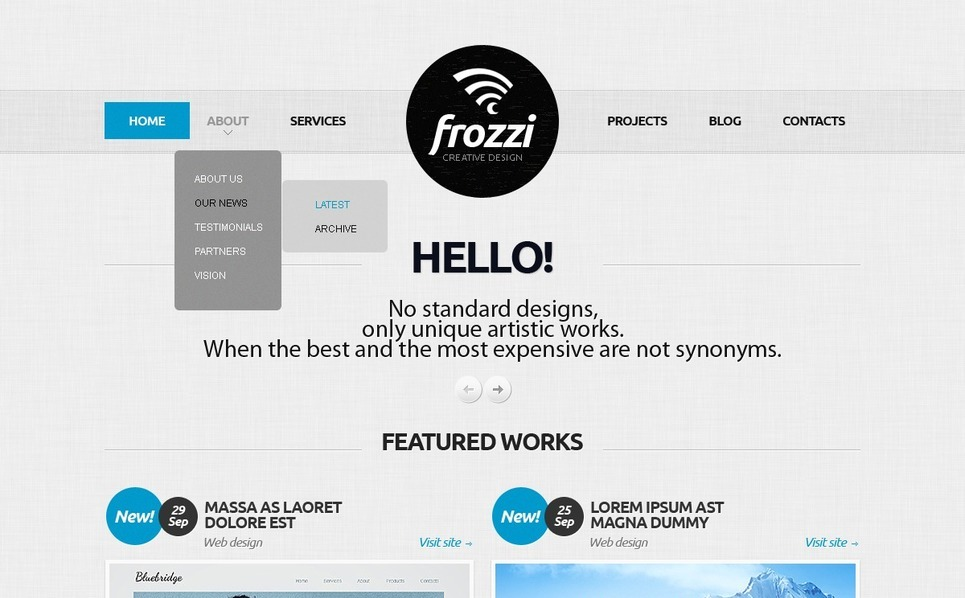 Template Joomla  #41128 per Un Sito di Design Studio New Screenshots BIG