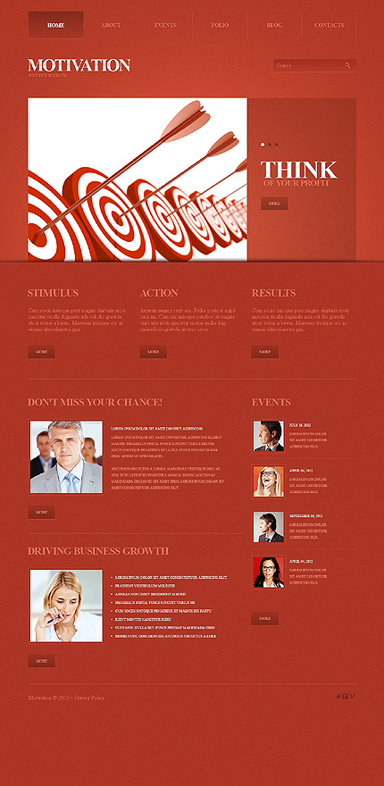 Drupal Template 41141 Main Page Screenshot