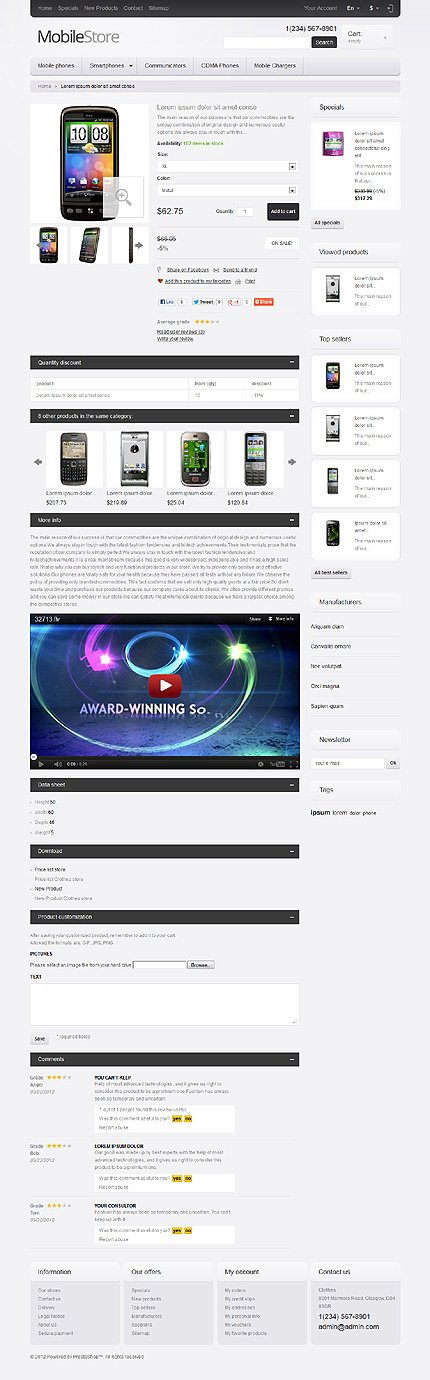 ADOBE Photoshop Template 41145 Home Page Screenshot