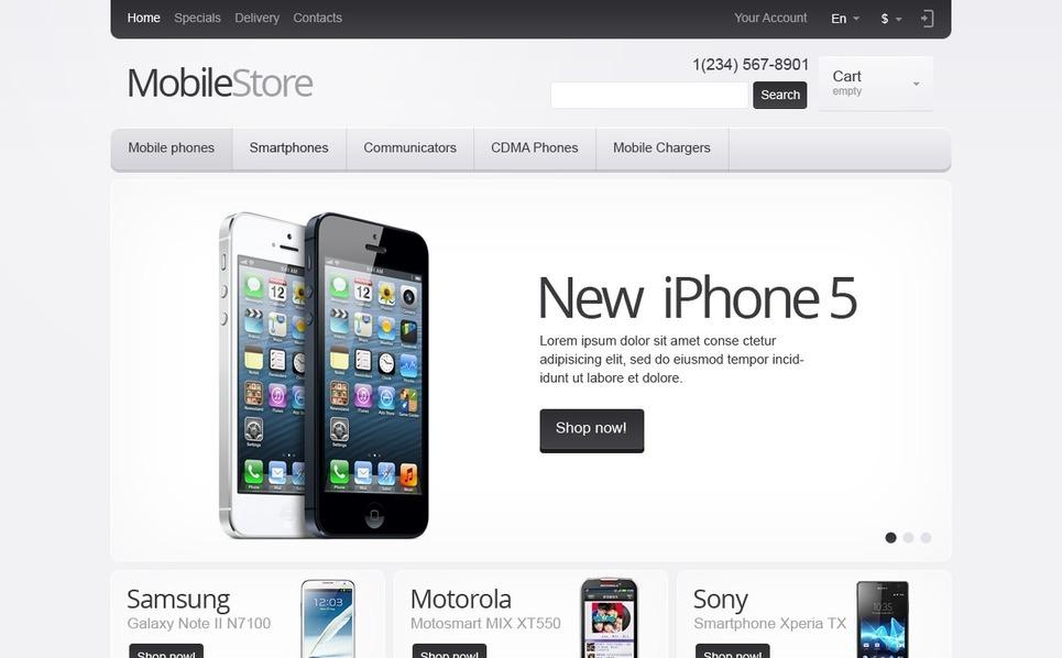 Reszponzív Mobil áruházak PrestaShop sablon New Screenshots BIG