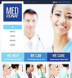 Medical Facebook HTML CMS  Template 41151