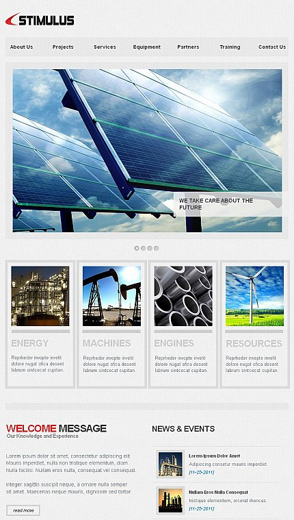 ADOBE Photoshop Template 41158 Home Page Screenshot