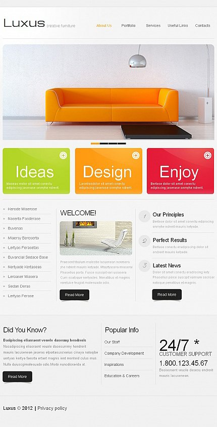 ADOBE Photoshop Template 41159 Home Page Screenshot