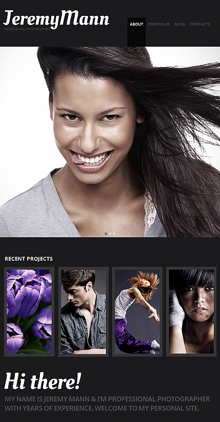 ADOBE Photoshop Template 41163 Home Page Screenshot