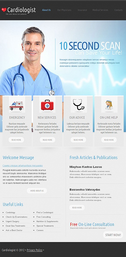ADOBE Photoshop Template 41173 Home Page Screenshot