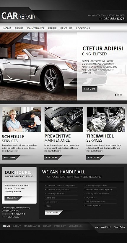 ADOBE Photoshop Template 41174 Home Page Screenshot