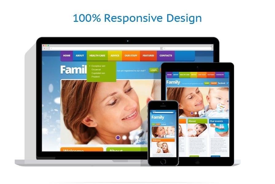 Modèles HTML5 Famille #41184