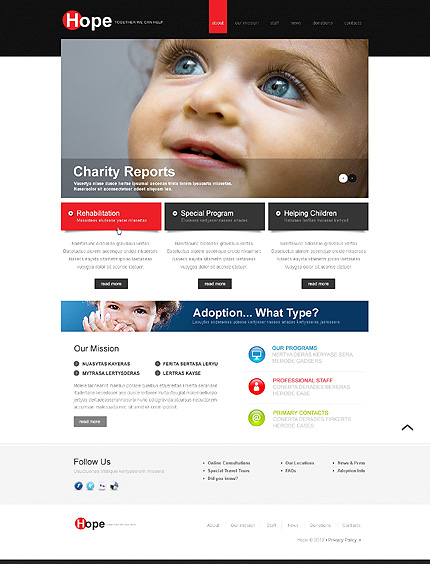 Charity Website Template Website Templates