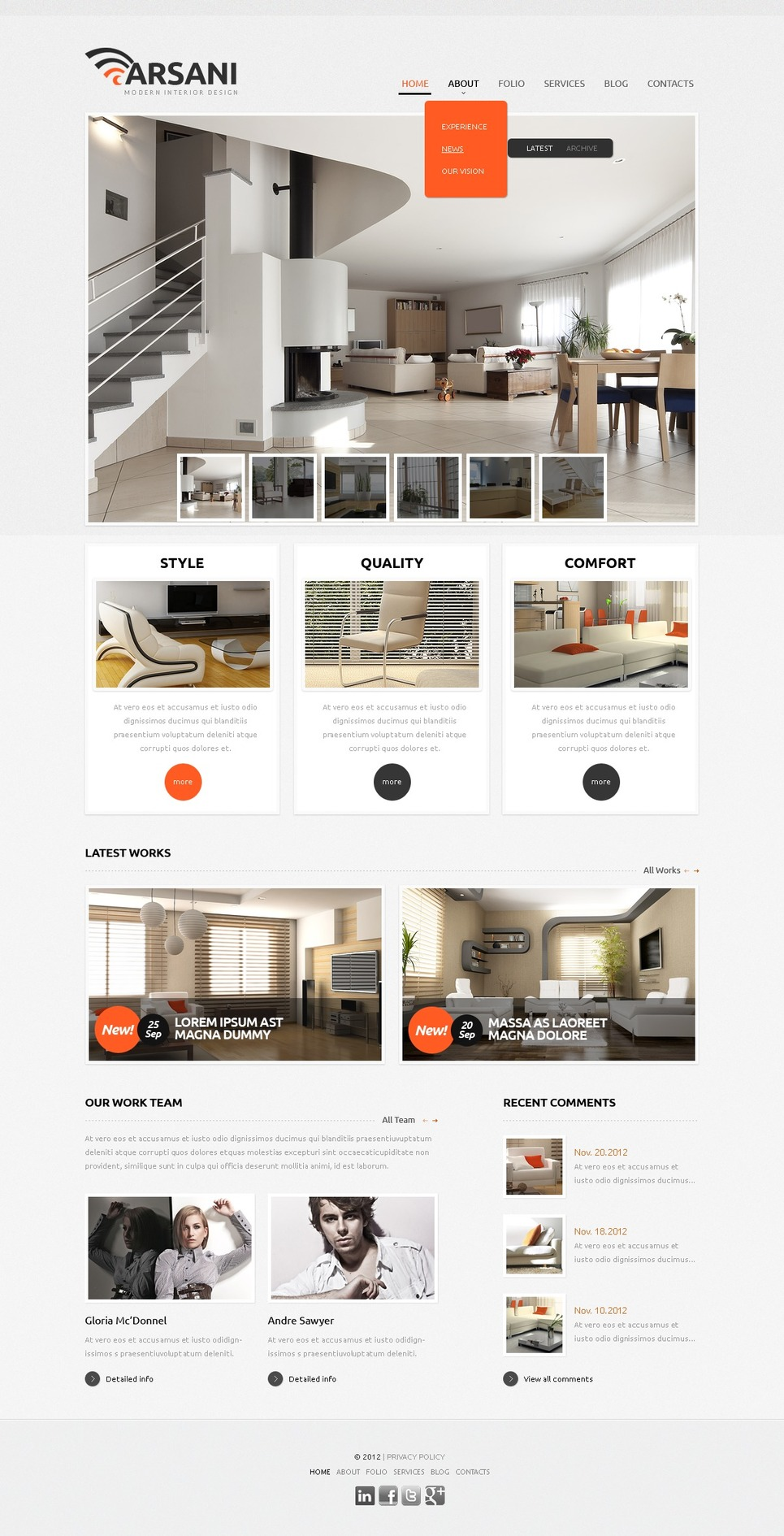 Interior Design Responsive Website Template 41192 By Wt Website Templates