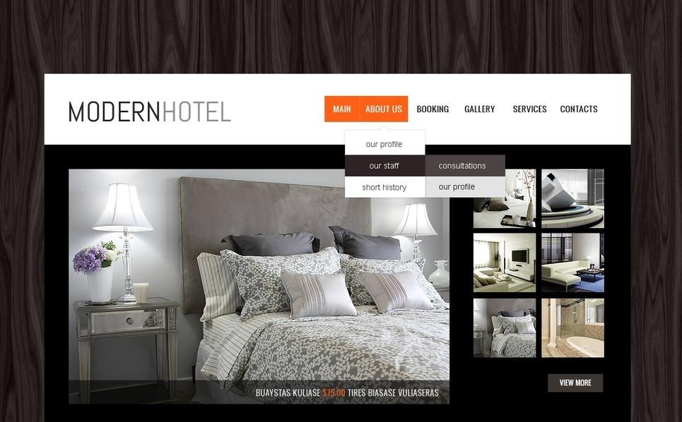 Szablon Strona Www #41193 na temat: hotele New Screenshots BIG