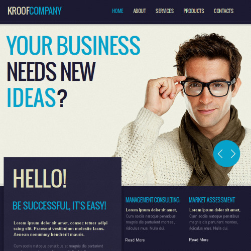 Kroof Company - Facebook HTML CMS Template
