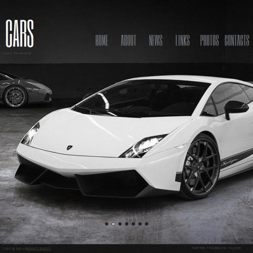 Cars Magazine - Facebook HTML CMS Template