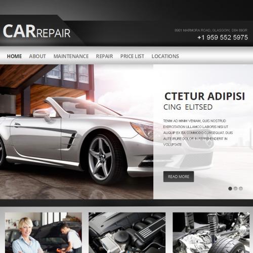 Car Repair - Facebook HTML CMS Template