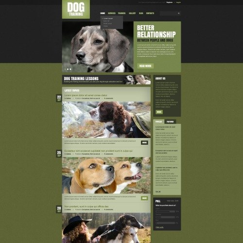 Dog Training Program - Drupal Template