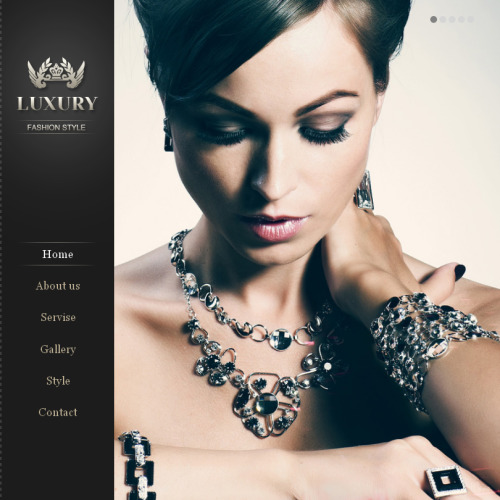 Luxury Fashion - Facebook HTML CMS Template