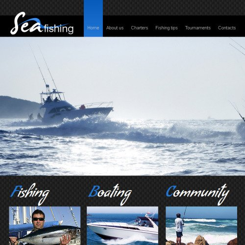 Sea Fishing - Facebook HTML CMS Template