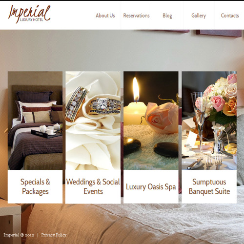 Imperial Hotel - Facebook HTML CMS Template