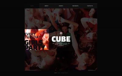 HTML шаблон №41111 на тему ночной клуб