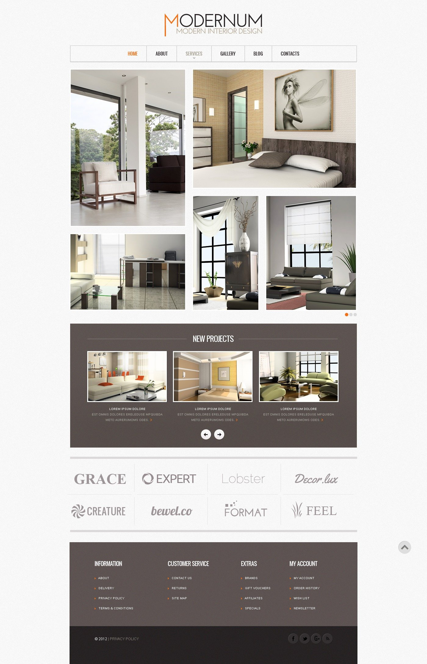 Interior Design Website Template 41187