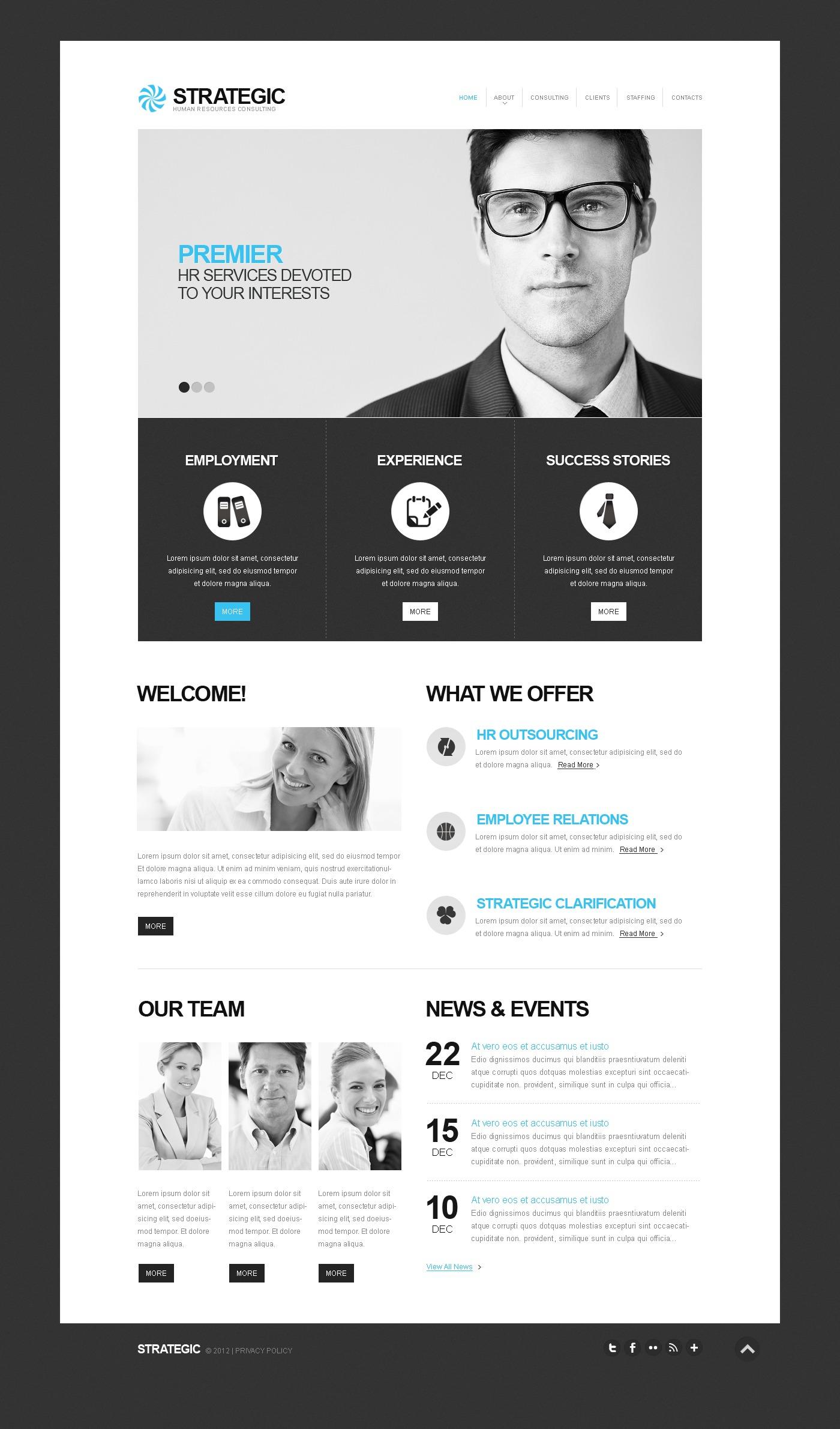Job Portal Website Template #41134