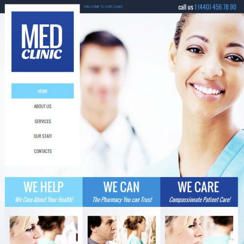 Med Clinic - Facebook HTML CMS Template
