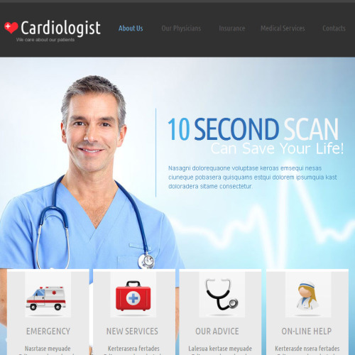 Cardiologist - Facebook HTML CMS Template