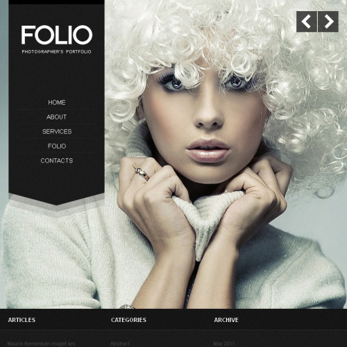 Folio - Facebook HTML CMS Template