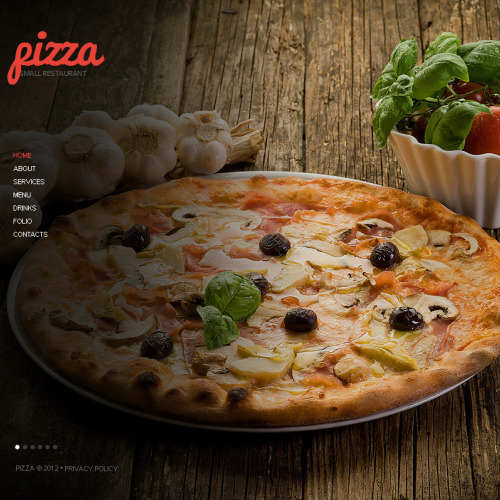 Pizza Delivery - Facebook HTML CMS Template