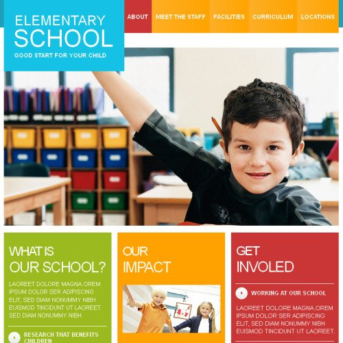 Primary School - Facebook HTML CMS Template