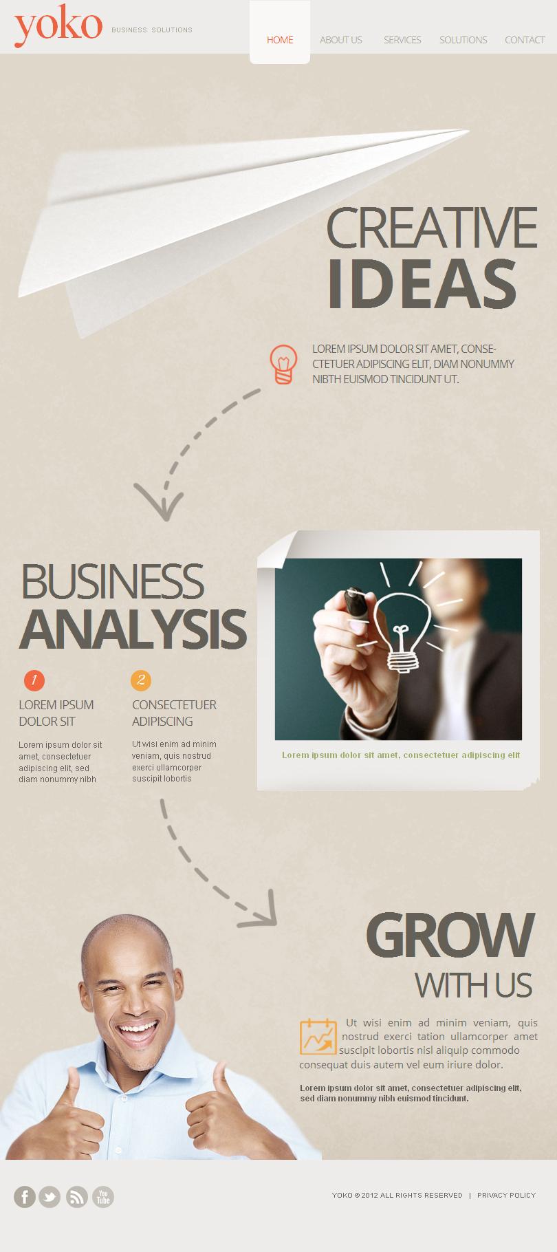 Szablon Facebook HTML CMS #41154 na temat: biznes i usługi - zrzut ekranu