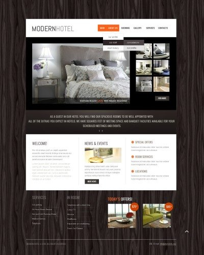 Hotels Template Siti Web