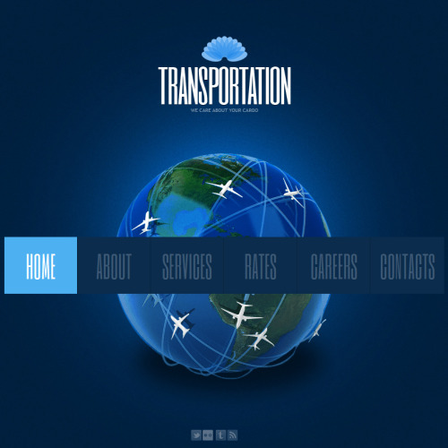 Transportation - Facebook HTML CMS Template