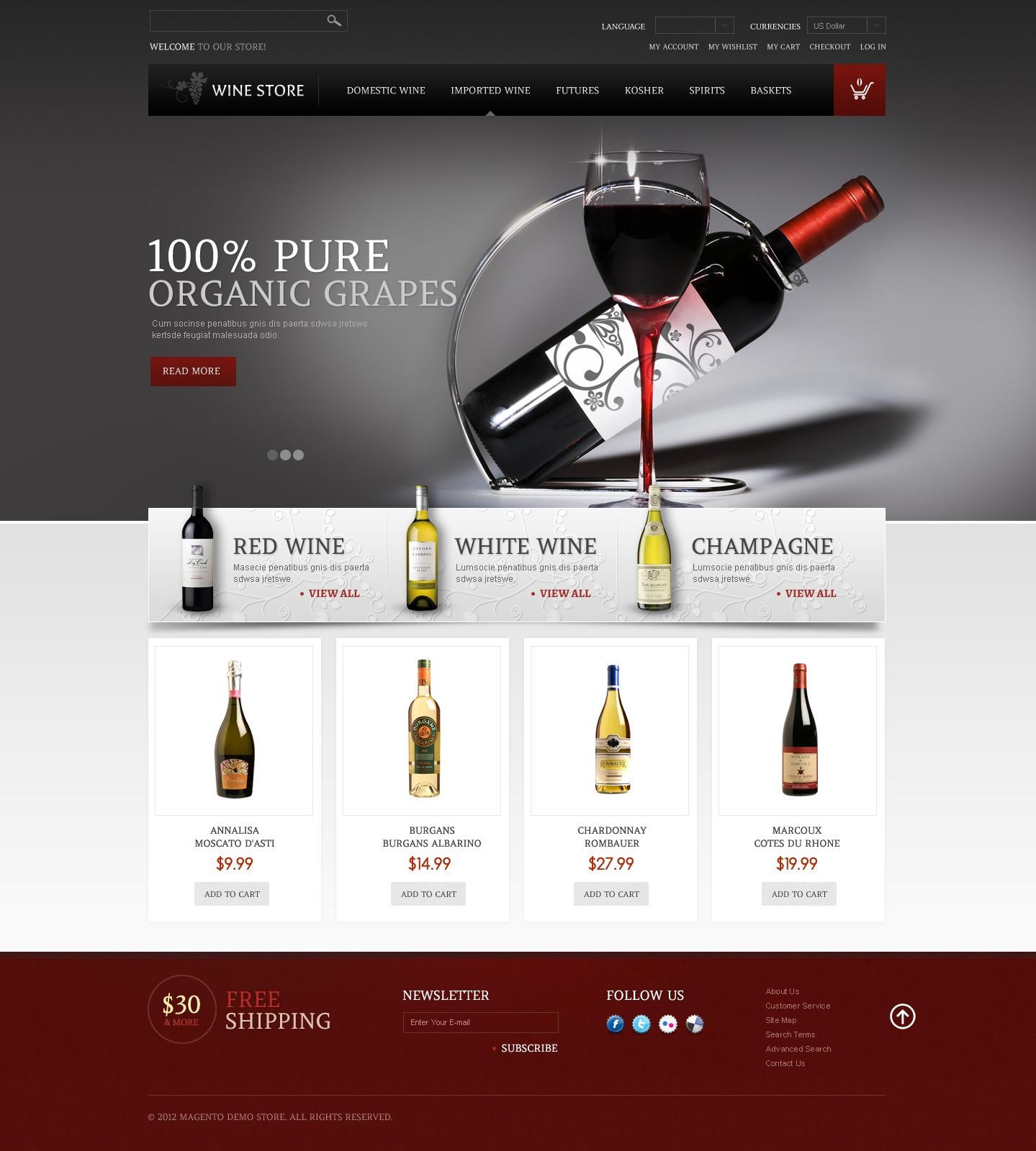 Wine Store Magento Theme #41127