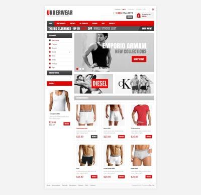 ZenCart шаблон №41120 на тему мужское белье