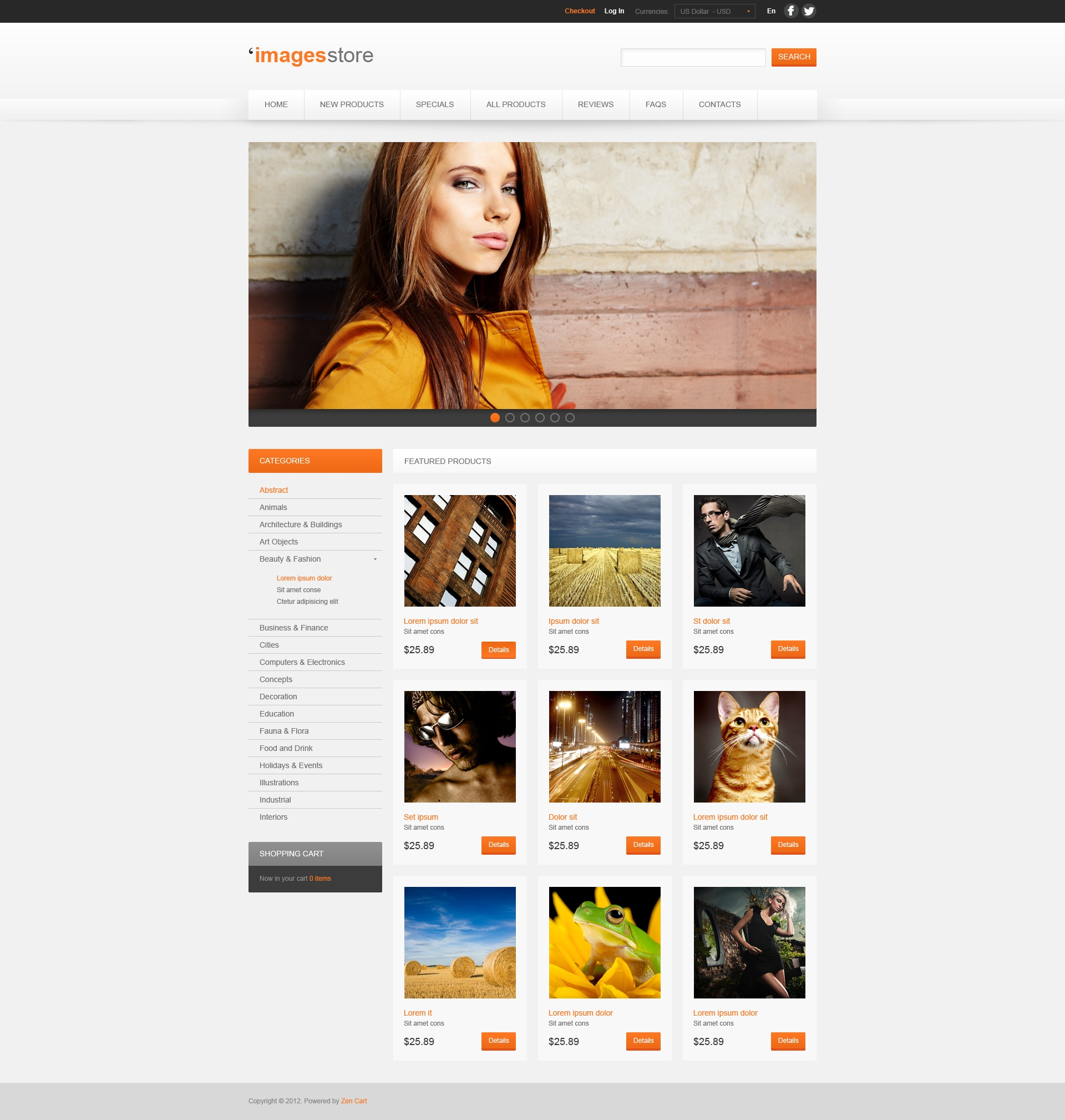 """ZenCart Vorlage namens """"Images for Various Projects"""" #41121"""