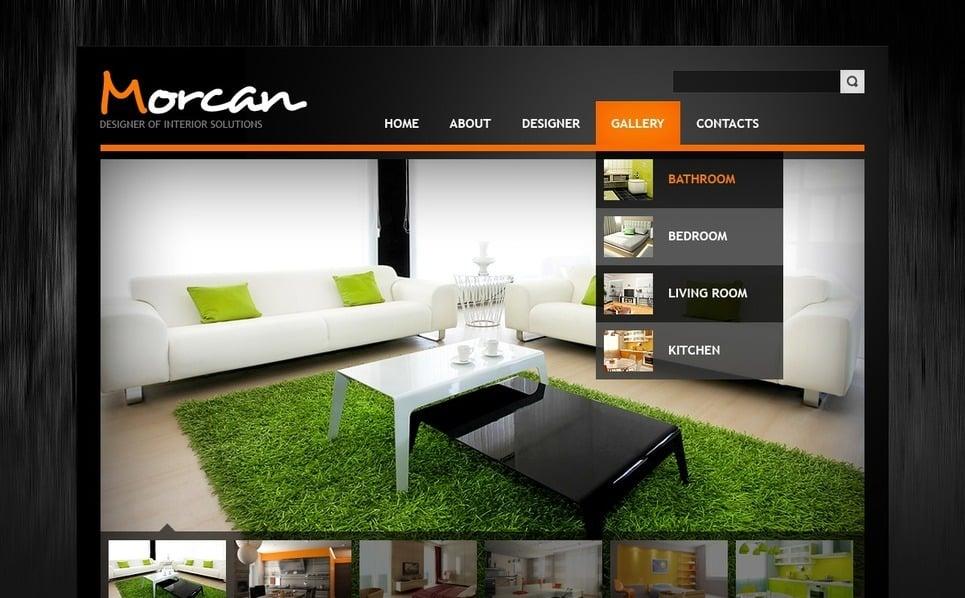 室内设计师网站网页模板 New Screenshots BIG
