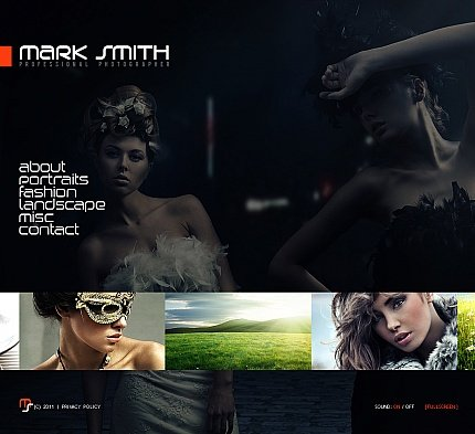 ADOBE Photoshop Template 41226 Home Page Screenshot