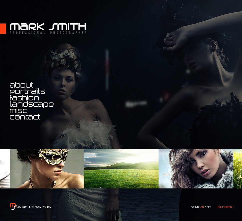 Portfolio Template with a Few Photo Galleries - image