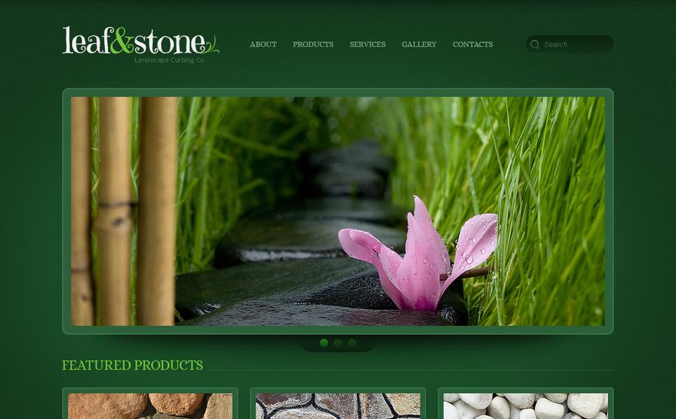 Moto CMS HTML Vorlage für Landschaftsgestaltung  New Screenshots BIG
