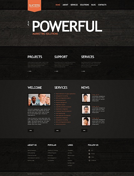 ADOBE Photoshop Template 41233 Home Page Screenshot